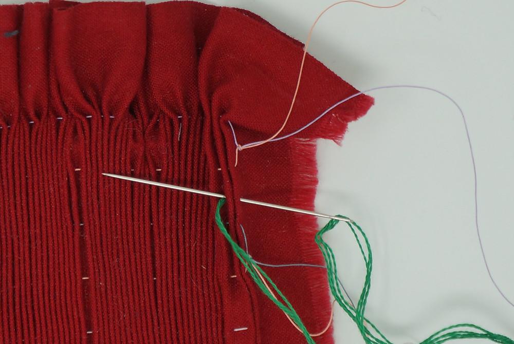 First locking stitch
