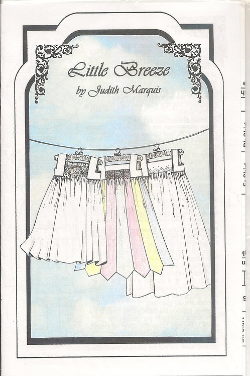 Little Breeze Girl's Smocked Nightgown Sewing Pattern