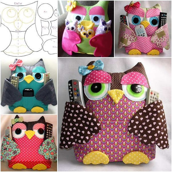 Owl pillow holder