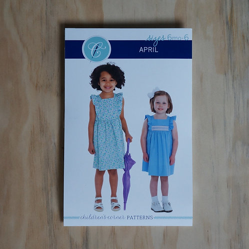 April Smocked Girl's Sewing Pattern