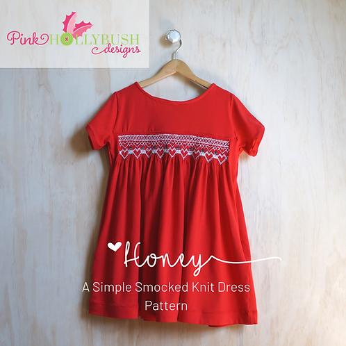 Honey Smocked Dress PDF Pattern