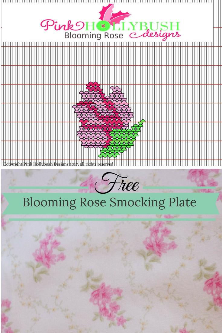 Blooming Rose Smocking Graph