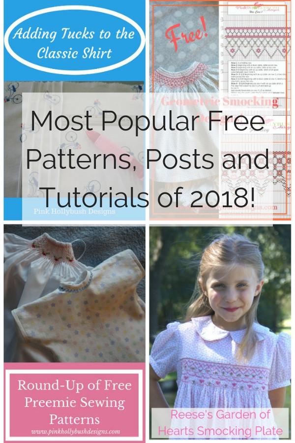 Most Popular Free Patterns,  Posts and Tutorials 2018