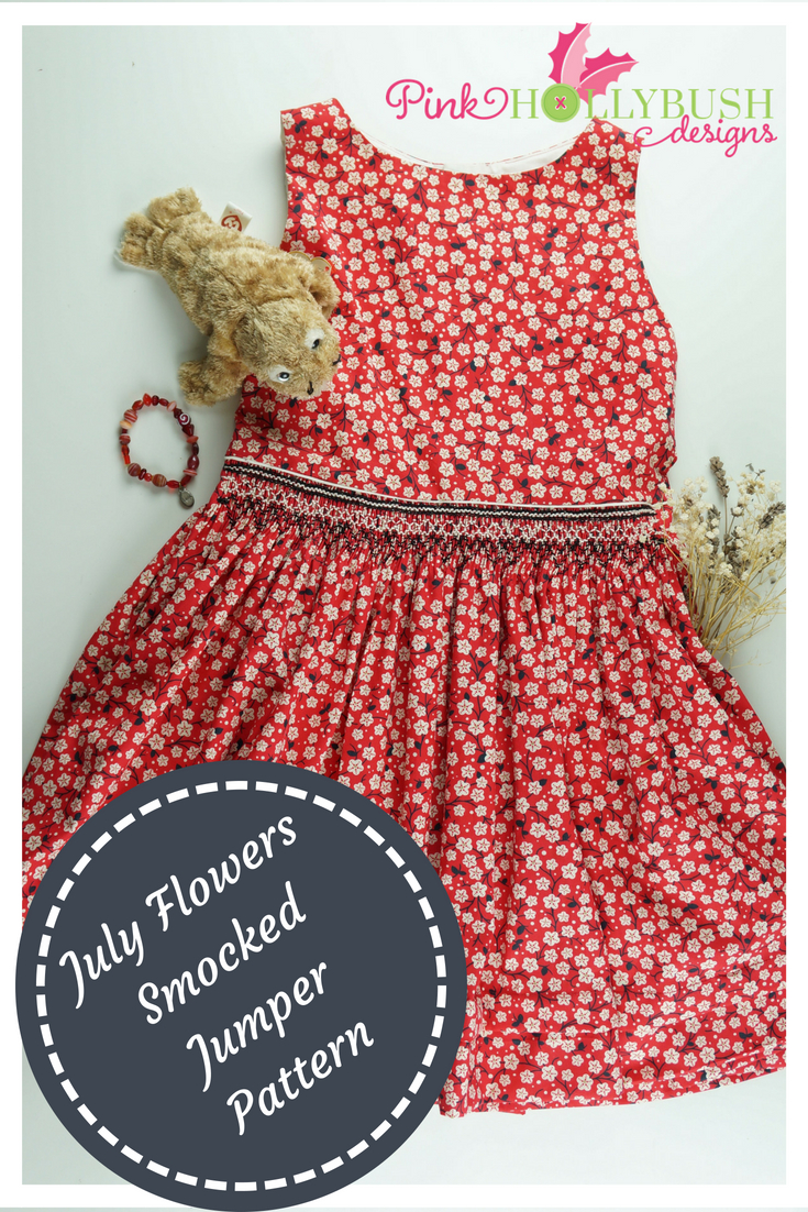 July Flowers Smocked Jumper Pattern cove