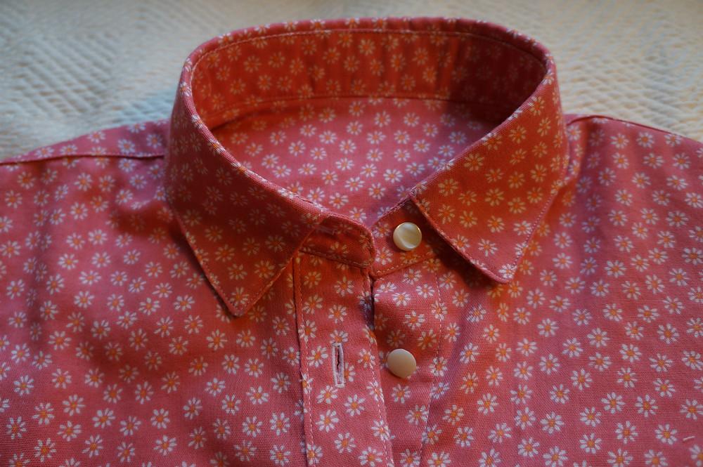 Close-up of collar