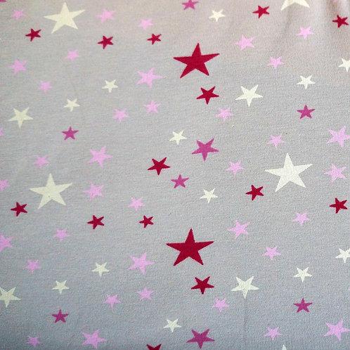 Gray Stars Knit Fabric