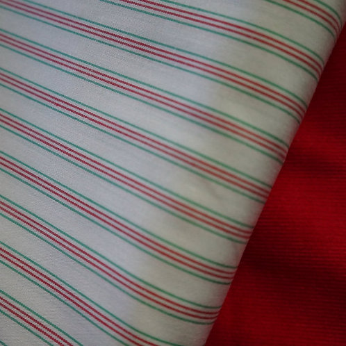 Noel Stripe Cotton Broadcloth