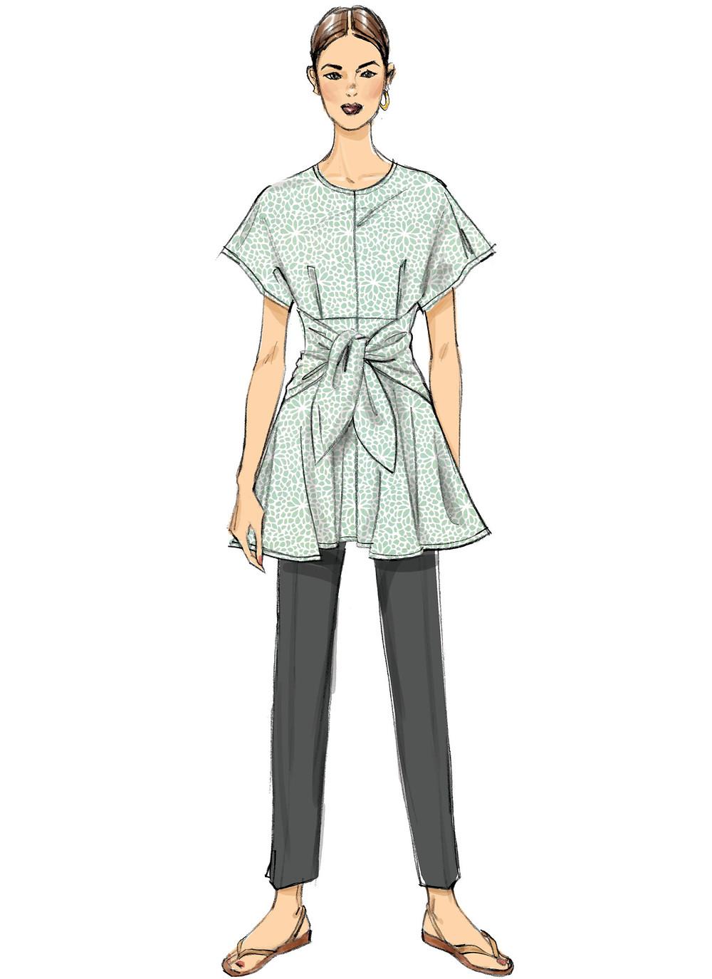 Vogue pattern 9363 tunic