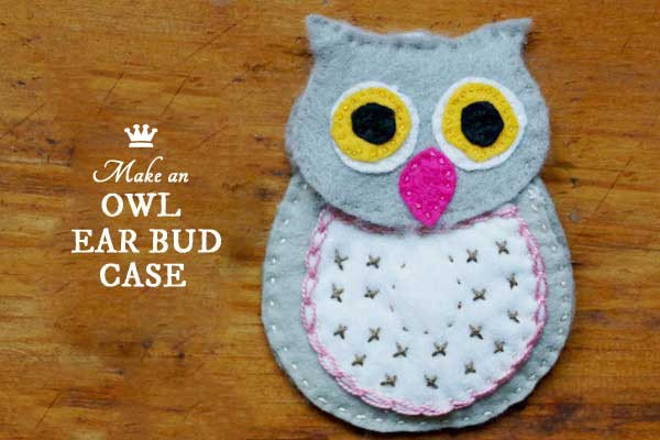 owl ear bud case