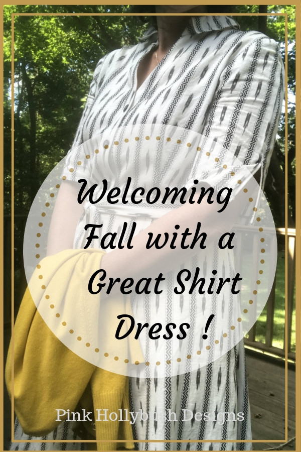 Welcoming Fall with a Great Shirt Dress