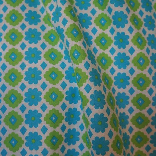 Blue Daisy Japanese Cotton by Kinkame