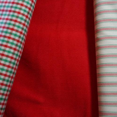 Red Cotton Fine-Wale Corduroy