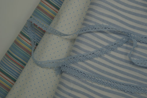 Light Blue Cotton Crochet Lace Trim