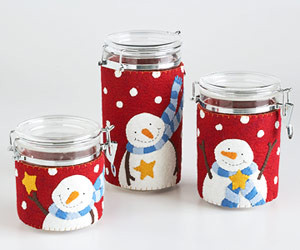 snowmen canister covers