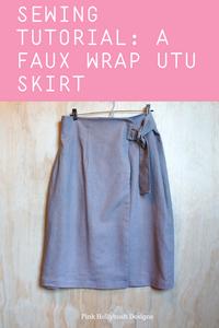 Sewing a Faux Wrap Utu Skirt
