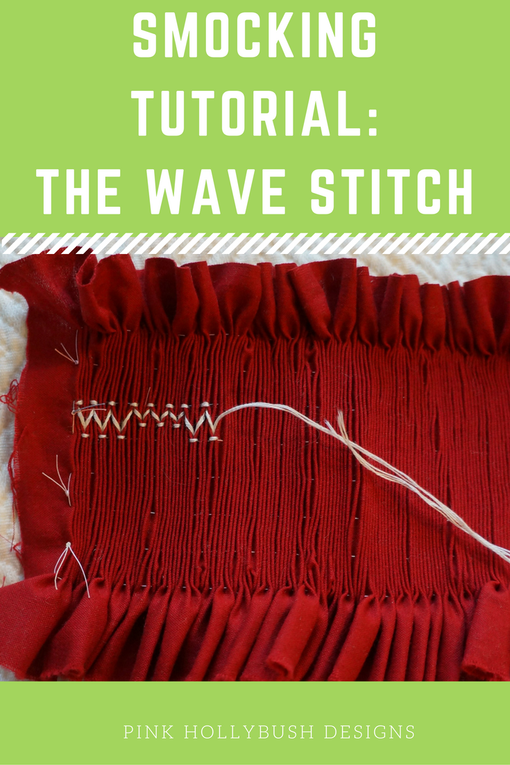 Smocking: the wave stitch