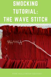 Smocking: the wave stitch