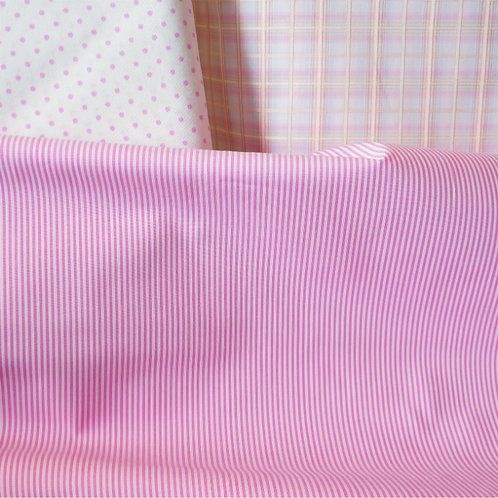 Pinky Stripe Cotton Broadcloth