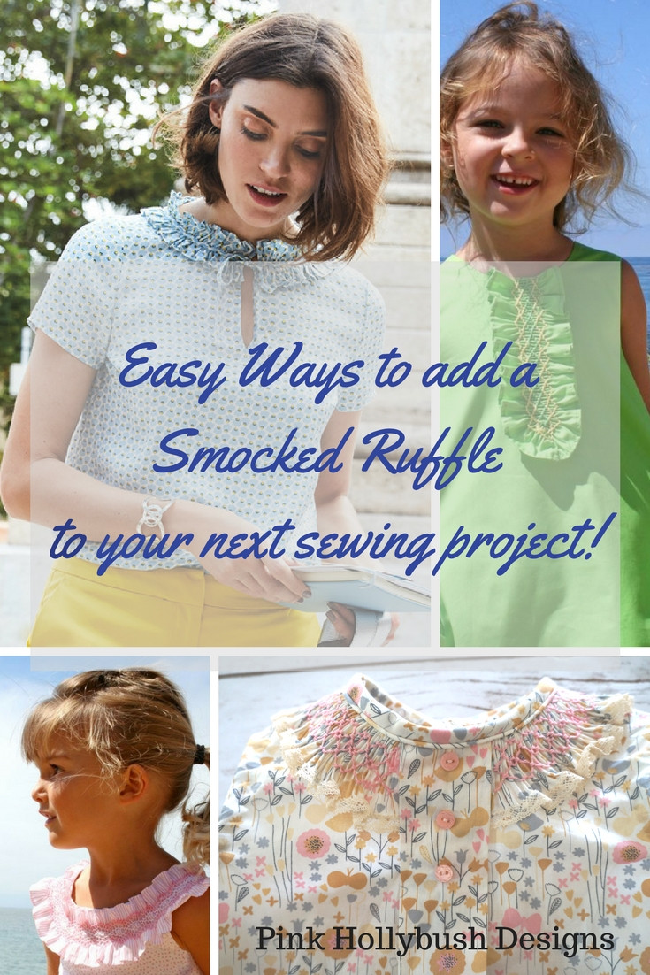 Easy ways to add a smocked ruffle to your next sewing design