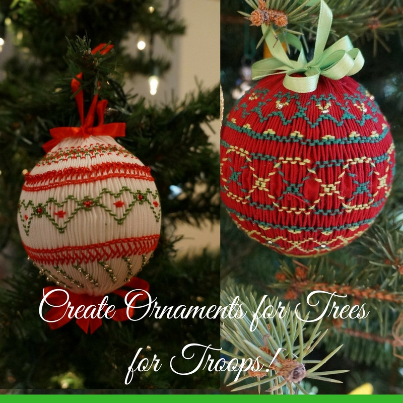 Create ornaments for Trees for Troops