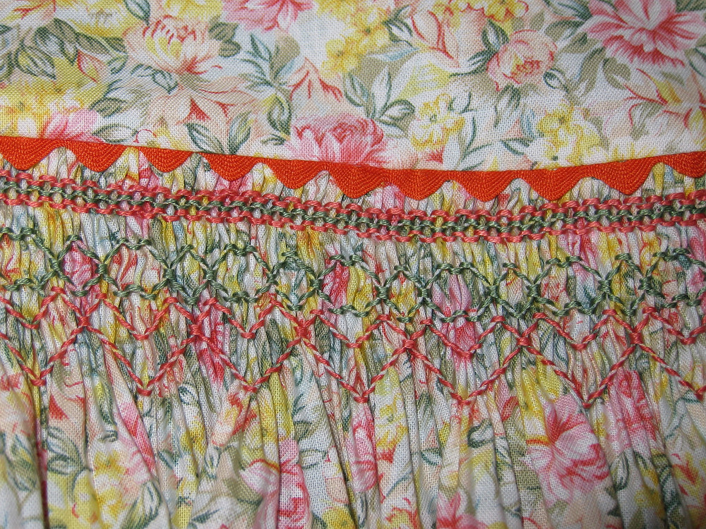 Finished waist seam with ric rac
