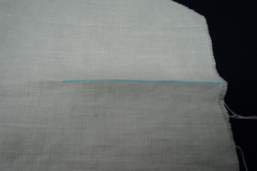 Crease the fabric