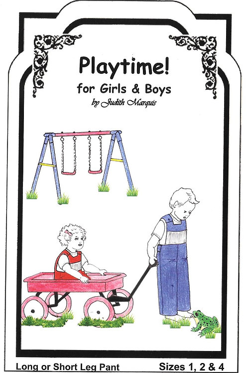 Playtime Smocked Overalls Sewing Pattern for Girls and Boys