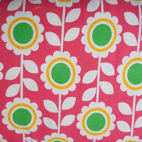 Fun Flowers Knit Fabric