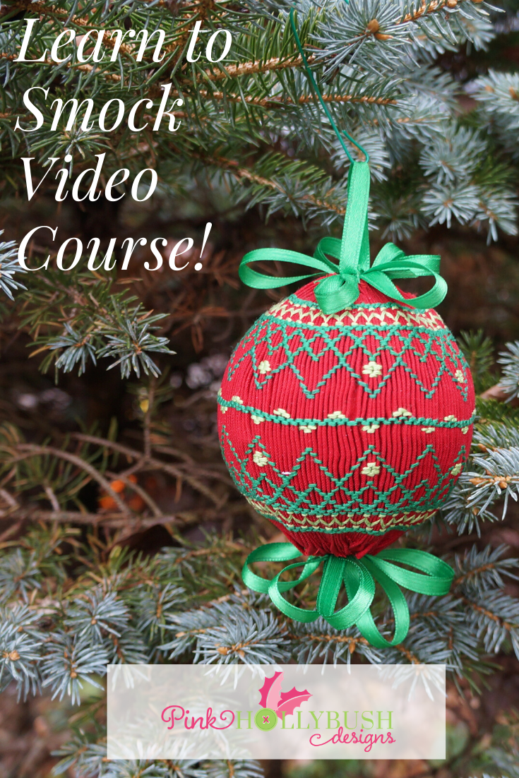 Learn to Smock Video Course will teach you to smock by making a smocked ornament.