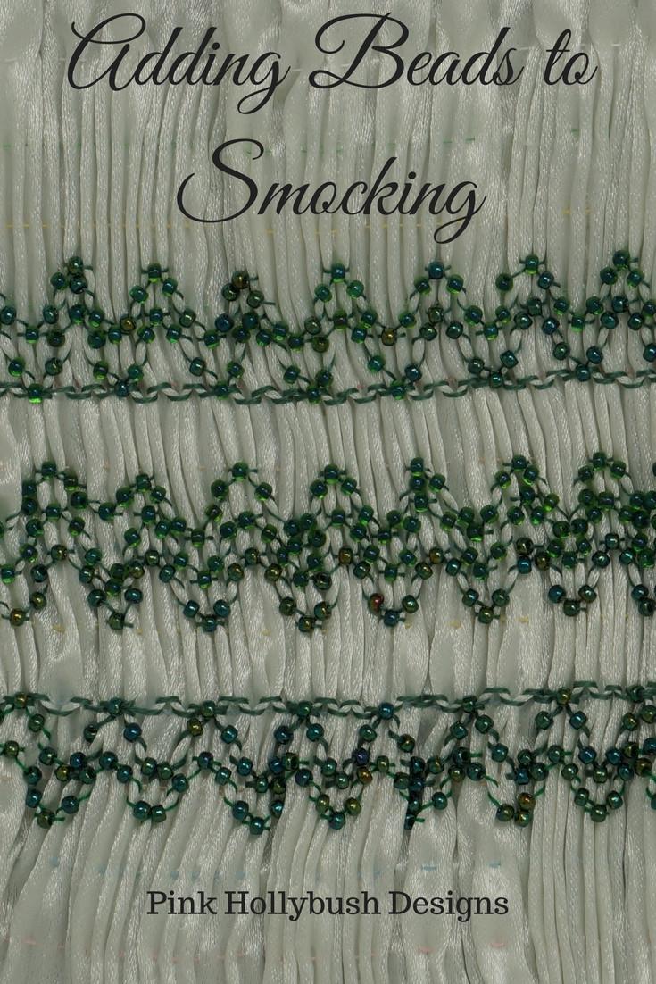 Adding Beads to Smocking
