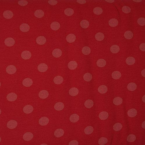 Coral Dot Organic Knit Fabric
