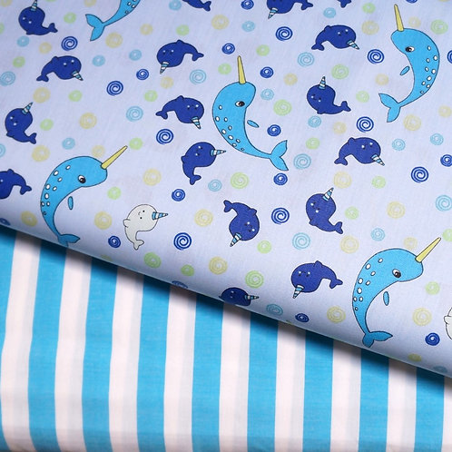 Narwhals Cotton Broadcloth
