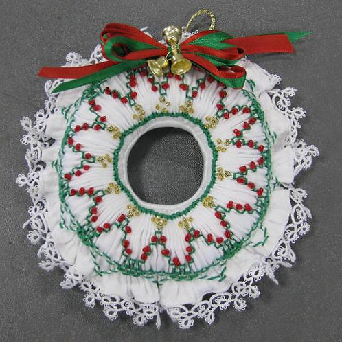 Smocked Wreath Ornament Digital Pattern