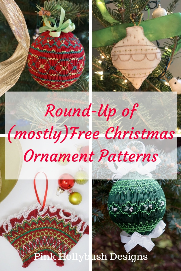 Round-up of Free Christmas Ornament Patterns