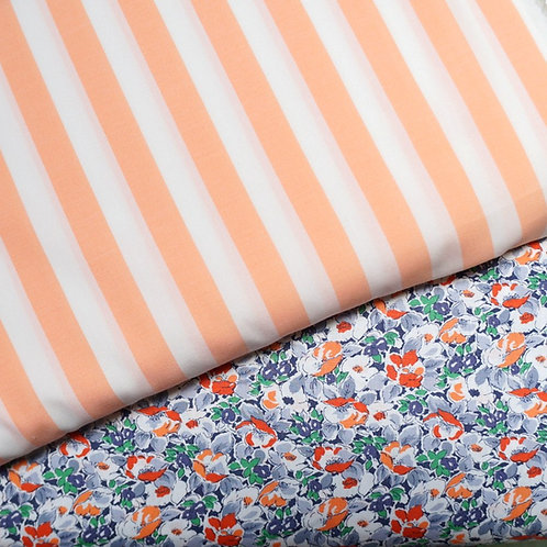 Melon Stripe Cotton Broadcloth