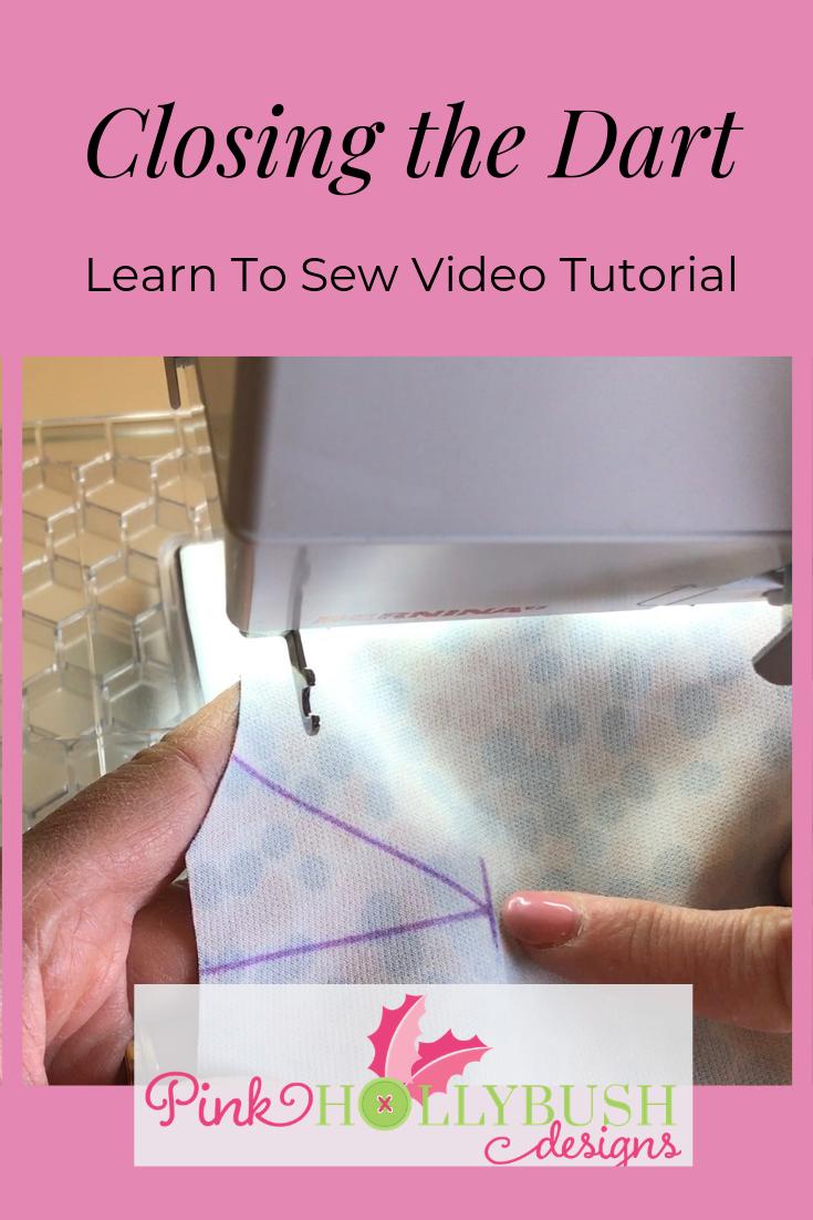 Sewing tutorial on closing a dart