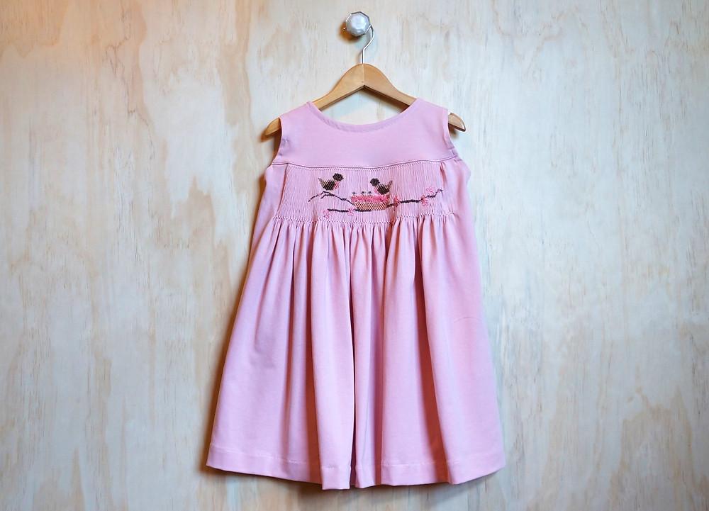 Sleeveless smocked Honey Knit dress pattern