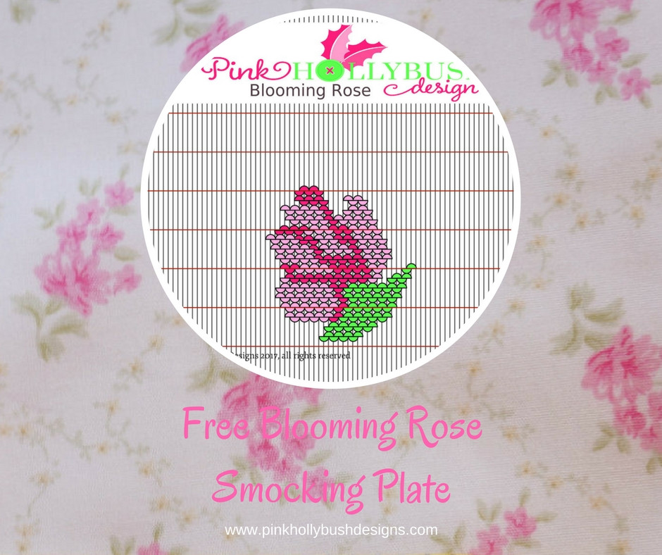 Blooming Rose Smocking Plate