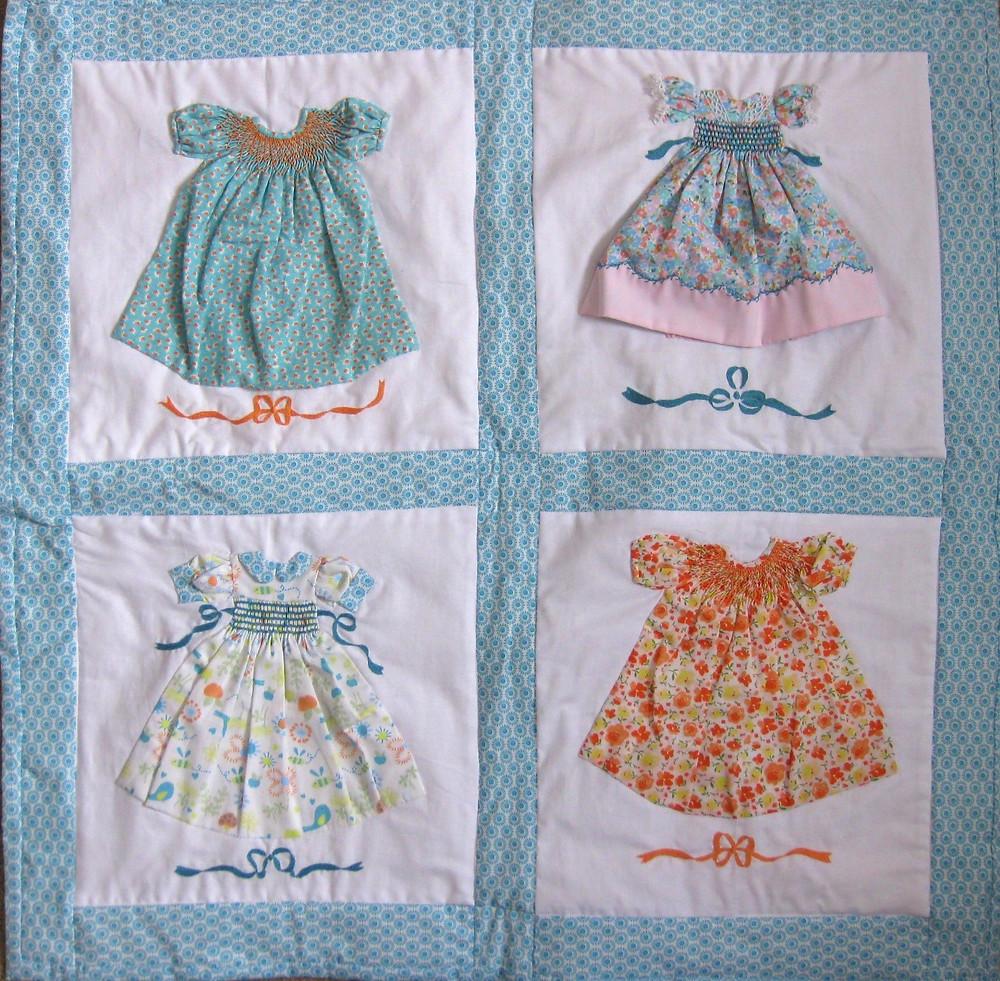 Aqua Paper Doll Quilt Kit