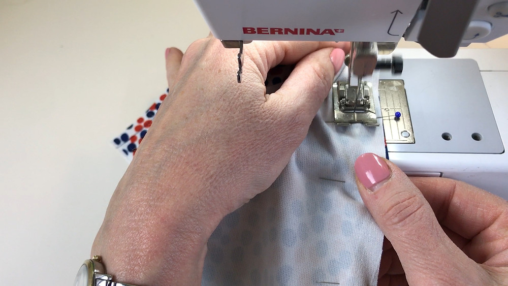 Sew right up to the pin before removing when sewing princess seams