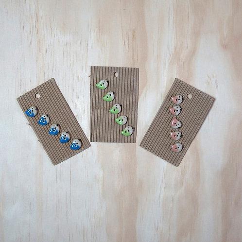 handmade bird buttons
