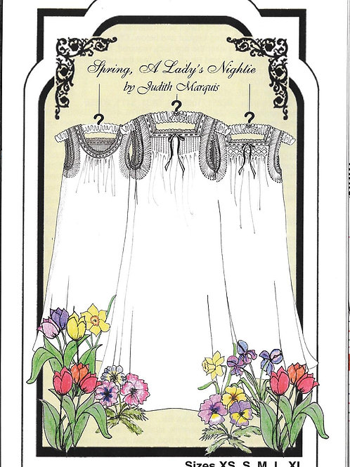Spring, A Lady's Nightie Heirloom Sewing Pattern