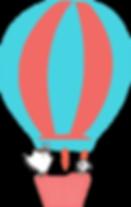 Dog & Bird in a Hot Air Balloon wo text.