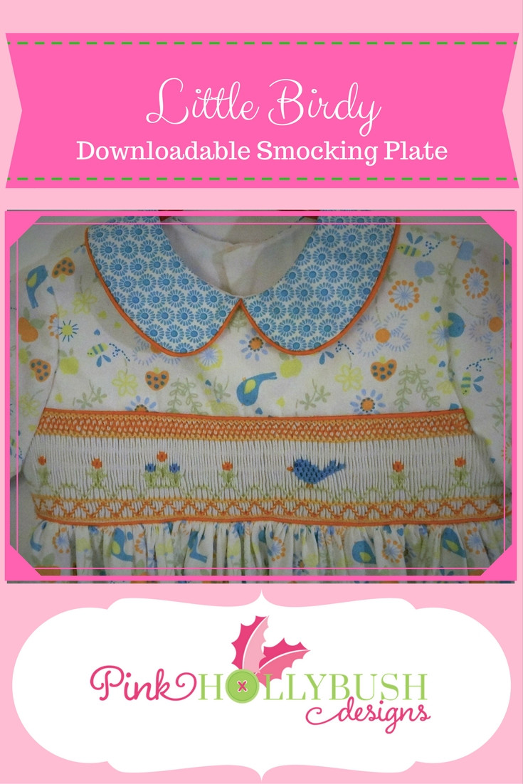 Little Birdy Smocking Plate