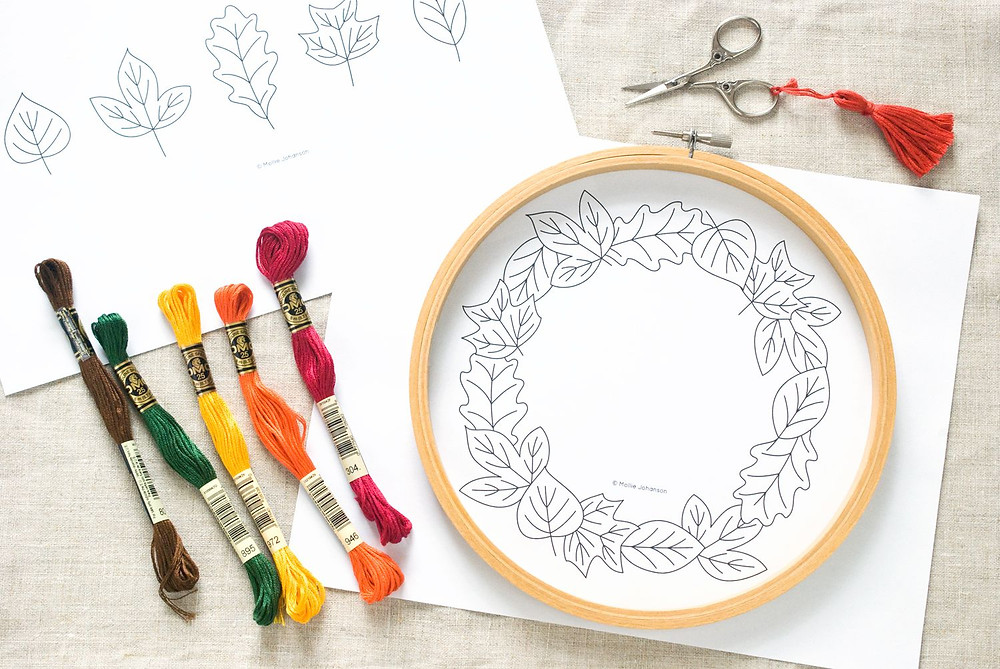 Fall Wreath to Embroider