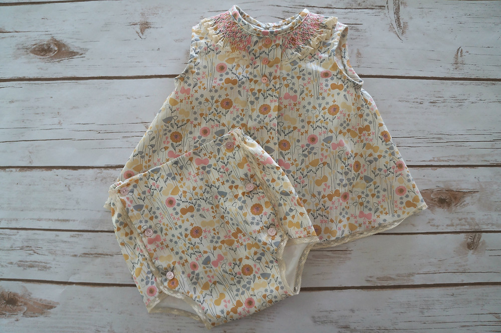 Sugar Smocked Baby Outfit