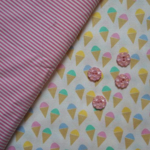 I Dream of Ice Cream July Flowers Gathered Skirt Kit