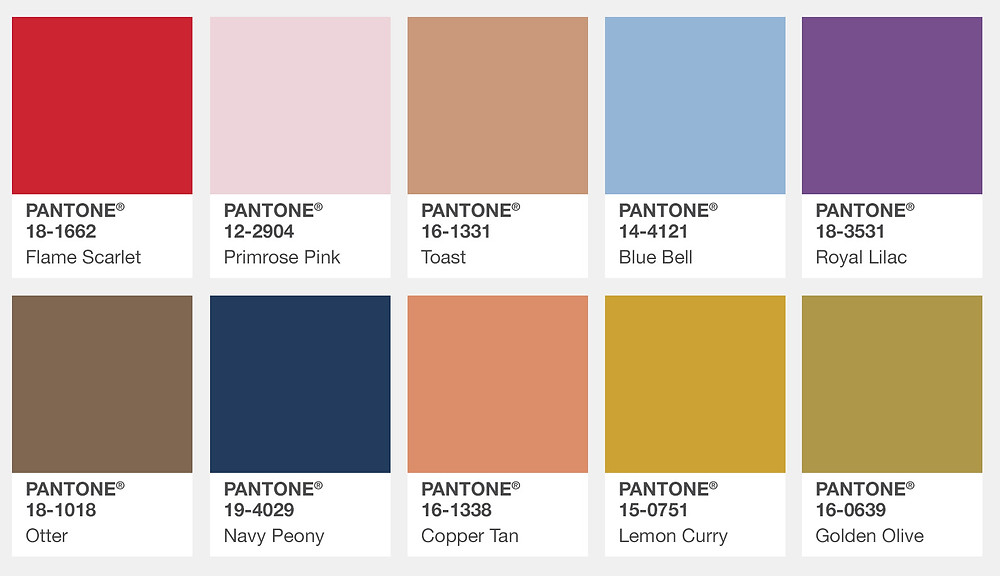 London Pantone Colors