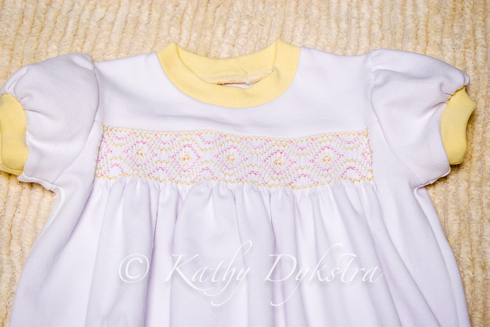 smocked knit nightgowns