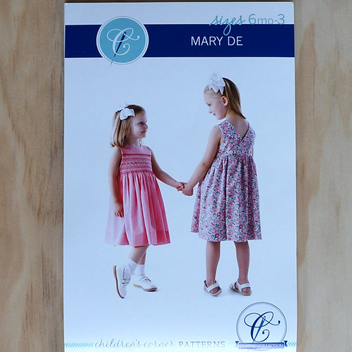 Mary De Girl's smocked dress sewing pattern